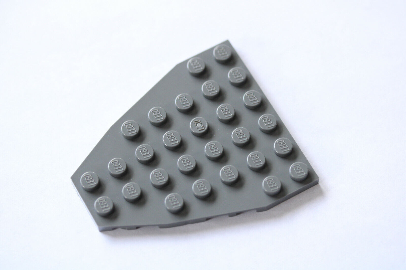 Lego Wedge  Plate 7x6 Part 2625  Boat Bow Plate Without Studs Blue