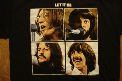 The Beatles Let It Be T-shirt Large Apple Corp Officially Licensed