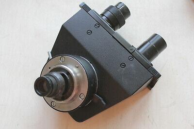 Leitz Wetzlar Microscope Polarising Pol Binocular Head P Adjusting Eyepiece