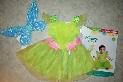 NWT Girls size 12-18 month Disney Baby Fairy TinkerBell Halloween Costume dress