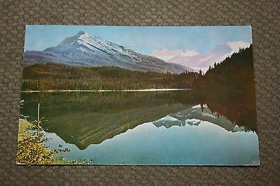 Vintage Postcard Reflections In Auk Lake, (Reflection Lake Alaska)