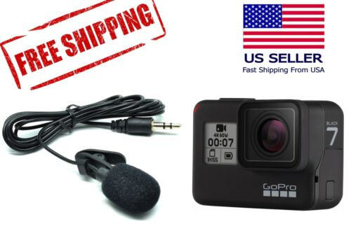 3.5mm External Microphone for GoPro Hero 7 Black - Active Clip