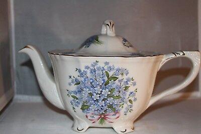 Crown Dorset teapot, flower pattern, English