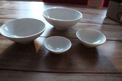 6 Stück KAHLA Porzellan Diner  Dîner Schale Schälchen  Ø 13  cm  0,35l  weiß