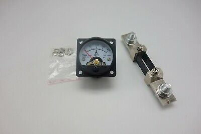 1pc Dc 0-200a Analog Ammeter Panel Amp Current Meter So45 Cutout 45mm With Shunt