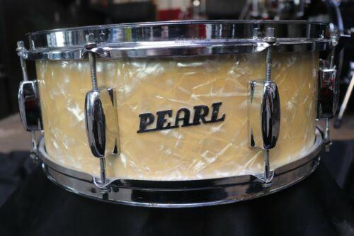 Pearl 5x14 Snare Drum White Pearl Vintage 1960