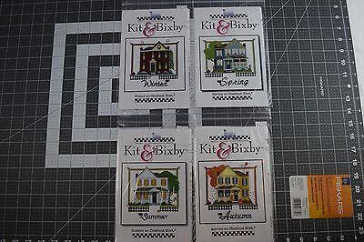 Lot of 4 Kit & Bixby Seasons Counted Cross Stitch Charts NEW