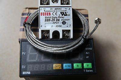 Dual Fc Pid Temperature Controller Thermostat Ta8-snr 2m K Sensor25a Da Ssr