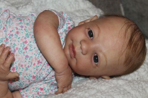 Reborn baby doll sweet lifelike newborn baby girl Lilly with 3d skin OOAK