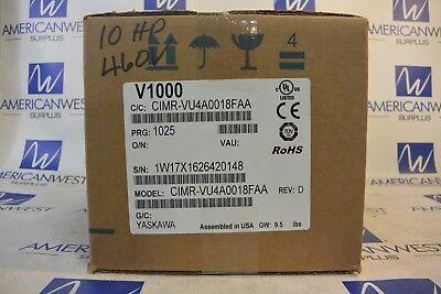 Yaskawa Cimr-vu4a0018faa V1000 10 Hp Drive 3 Phase 480 Volt New In Box