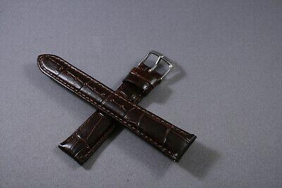 - 12mm 16mm 18mm 20mm Brown Genuine Leather Wrist Watch Aligator Straps Bands