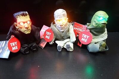 3 Universal Monsters Pocket Screamers Halloween Frankenstein Creature Mummy NEW