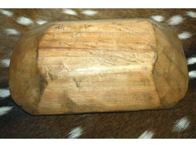 """* Carved Wooden Dough Bowl Primitive Wood Trencher Tray Rustic Home Decor 8-12"""""""