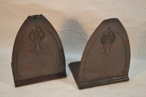 Authentic Roycroft Metal Bookends