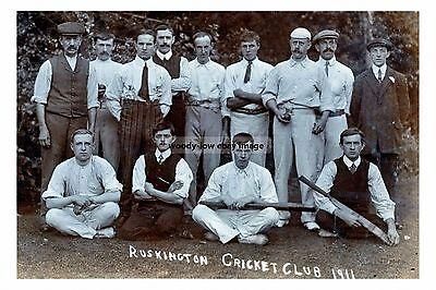 rp16875 - Ruskington Cricket Club 1911 , Lincolnshire - photo 6x4
