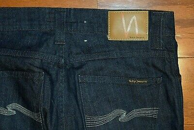 Nudie Jeans Co. ~ 'SLIM JIM' SKINNY STRAIGHT STRETCH Blue Jeans - Men 30 x 32