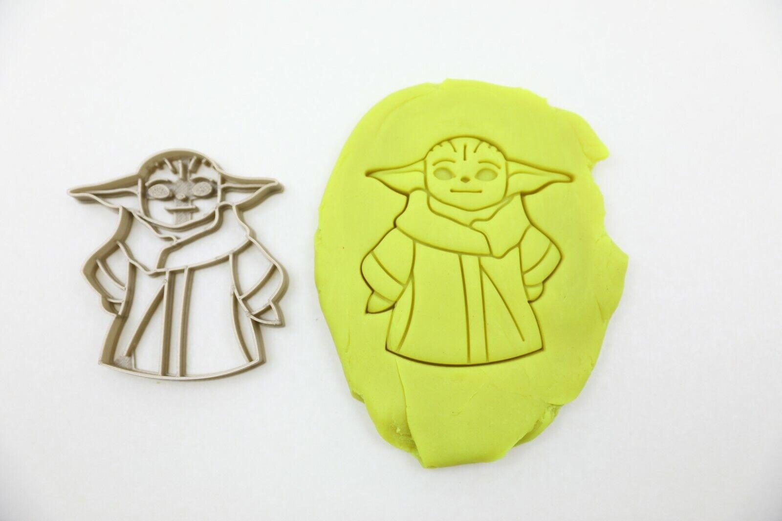 Kekstempel/ Ausstechform  Star Wars Baby Yoda aus biolog. PLA ca.8cm Fondant