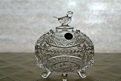 Lidded Candy Dish - Hofbauer Crystal Byrdes Collection  Lidded Candy Dish
