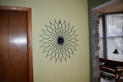 MCM Sunflower starburst wall clock george nelson 50's 60's danish modern style