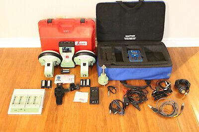 Leica Dual Gs15 Gps Gnss Glonass Rtk Survey Base Rover Kit W Cs15 Adl Radio