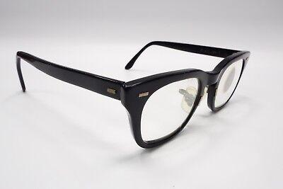 True Vintage Bausch & Lomb B&L Black Hornrim 1960's Eyeglass Frame 48[]24 5594