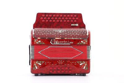 Polverini Red Rojo 3112 Accordion Acordeon  MI/EAD TEX MEX 2  New Bonito