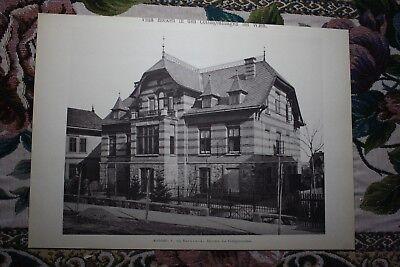 1886 8 / Wien Villa Holken in den Cottageviertel Währing Döbling