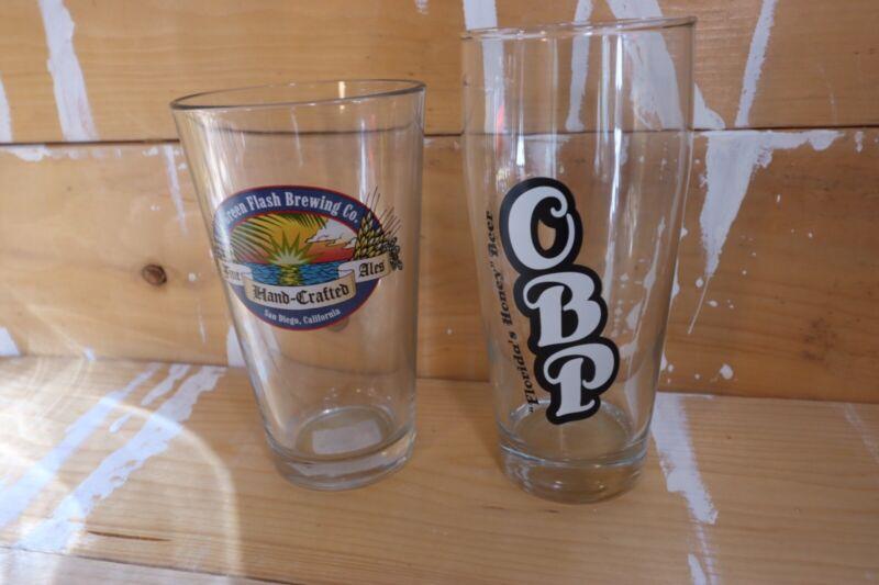 7 Various Pint Glasses - Cigar City, OBP, Ten10, Widmer, Terrapin