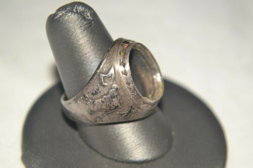 ca 1940s Vintage Antique SIGMA CHI Fraternity Sterling Silver MENS RING size10