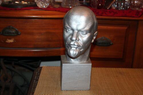 Vladimir Lenin Bust Lifelike Plaster Russian USSR Soviet Union