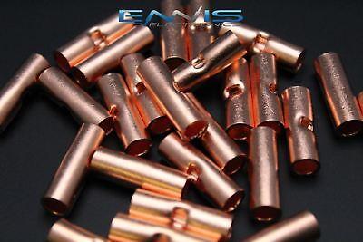6 Gauge Copper Butt Connector 100 Pk Crimp Terminal Awg Battery Cur6