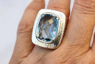 New Authentic Brighton Your True Color Balanced Silver & Crystal Ring Size 9 $68