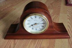 Bulova Westminster B1929 Annette II Wood Mantle or Desk Clock, Mahogany Finish