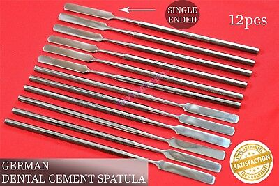Cement Mixing Wax Sculpting Spatula Crafts Dental German Stainless 12pcs