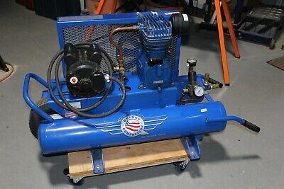 Quincy 8 Gal Dual Tank Wheelbarrow Air Compressor 1.5hp 5.8 Cfmin 125 Psi Qts-3