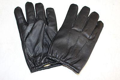 Handschuhe Kevlar Aramid Schnitthemmend Schwarz Leder Polizei Secutity S-XXL  ()