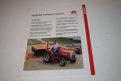 Massey Ferguson Model 1240 24wd Compact Tractors Sales Sheet