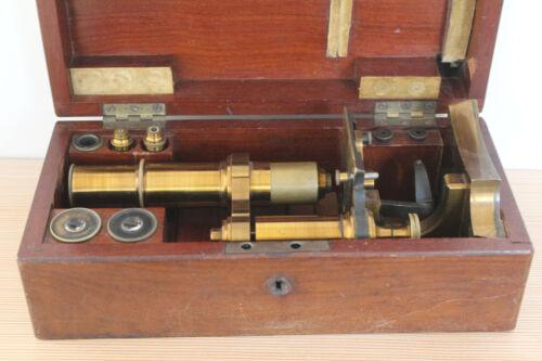 Ernst Leitz Wetzlar Brass Microscope Collectible Antique