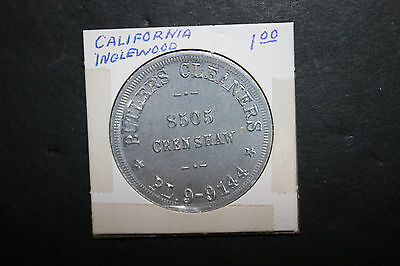 Vintage Butlers Cleaners Token Good For $1 In Trade Inglewood CA