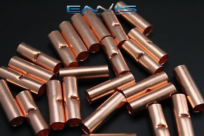 4 Gauge Copper Butt Connector 10 Pk Crimp Terminal Awg Battery Cur4