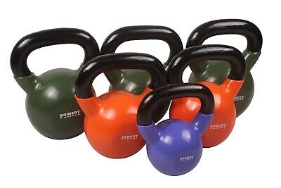 Vinyl Coated Kettlebell Weight lifting Training  5/10/15/20/25/30/35/40/45/50LB