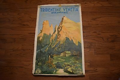 Tridentine Venetia Italy Italian Dolomites Vintage Travel Advertisement Poster
