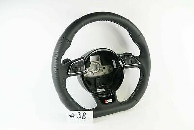AUDI S-LINE A4 A5 S4 S5 FLAT BOTTOM HALF PERFORATED STEERING WHEEL #38