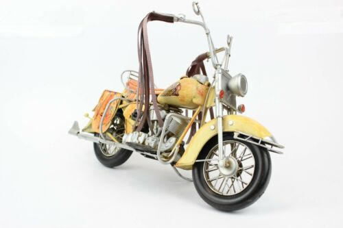 Vintage Style Tin/Metal Indian Motorcycle Hand painted large size