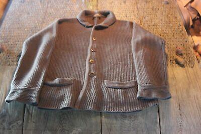 Giorgio Armani Black Label 100% Cashmere Textured Knit Chunky Heavy Cardigan L