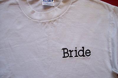 Beach Bride Womens T-shirts -  Womens BRIDE T Shirt sz M hiking skiing snowboard cruise honeymoon beach surf