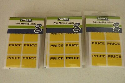 Lot Of 600 Freds Price Labels Garage Sale Stickers Tags Rummage Flea Market
