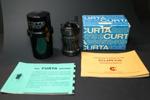 CURTA CALCULATOR TYPE I LATE SN #74333 COMPLETE KIT WITH BOX, MANUALS, INVOICE!