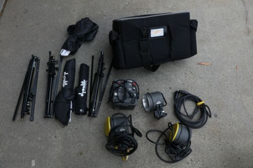 Dynalite RP500 Pack w/ 3 Flash Heads, Cables and Accessories
