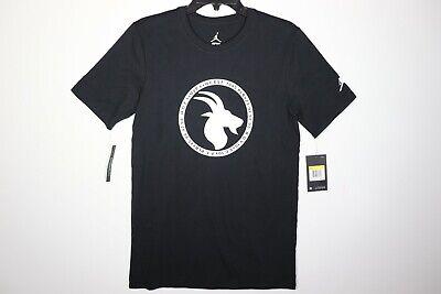 Nike Air Jordan Goat Greatest Logo T-Shirt Black White BV7454-011 Men's NWT